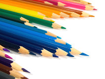 Assortment of colored pencils Stock Images