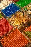 Assortment of colored pencils Stock Photography