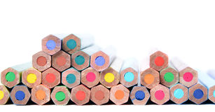 Assortment of colored pencils Stock Image