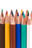 Assortment of colored pencils Stock Photo