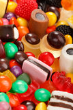 Assortment of colorful candy Royalty Free Stock Images