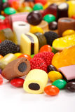 Assortment of colorful candy Stock Images