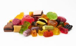 Assortment of colorful candy Royalty Free Stock Photos
