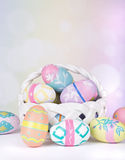 Assortment of Colorful Easter Eggs Stock Photography