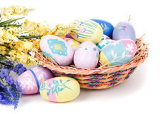Assortment of Colorful Easter Eggs Royalty Free Stock Photo