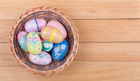 Assortment of Colorful Easter Eggs Stock Images