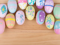 Assortment of Colorful Easter Eggs Stock Image