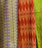 Colorful fabrics for sale Royalty Free Stock Photo