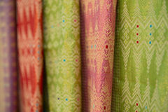 Colorful fabrics for sale Royalty Free Stock Photography