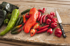 Assortment of colorful fresh peppers Royalty Free Stock Photo