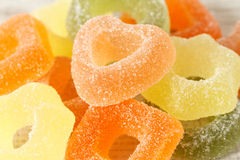 Assortment of colorful fruit jelly candies Royalty Free Stock Photo