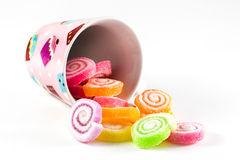 Assortment of colorful fruit jelly candy Royalty Free Stock Photography