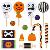 Assortment of Colorful Halloween Candy stock illustration