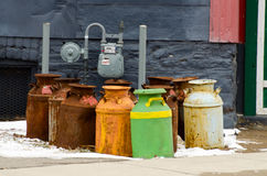 Old milk cans Stock Image