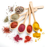Assortment of colorful spices. Stock Photography