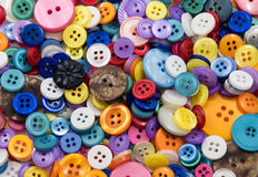 Assortment of coloured Buttons Background Stock Photography