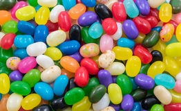 Assortment of Coloured Jelly Beans Stock Photo