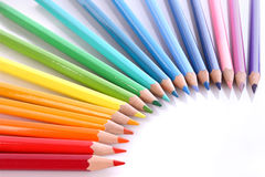 Assortment of coloured pencils Royalty Free Stock Photos