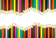 Assortment of coloured pencils Royalty Free Stock Images