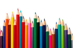 Assortment of coloured pencils Stock Photography