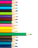 Assortment of coloured pencils Stock Photos