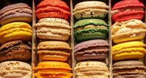 An assortment of colourful French macaroons Stock Photo