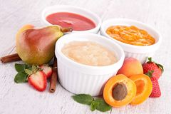 Assortment of compote Stock Image