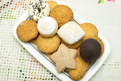 Assortment of cookies royalty free stock photo