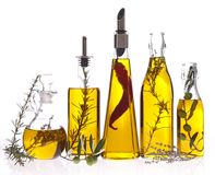 Assortment of cooking oil Stock Images