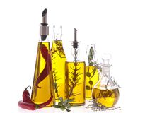 Assortment of cooking oil Royalty Free Stock Images
