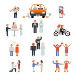 Assortment of Couple Icons Stock Photography