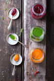 Assortment of cream soups Royalty Free Stock Photography
