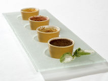 Assortment of creme brulee Stock Image