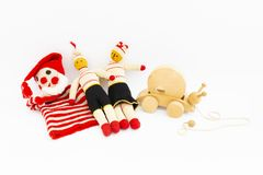 Assortment of cute vintage children toys stock photography