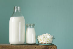 Assortment of dairy products Royalty Free Stock Photography