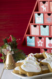 Assortment of Decorated Christmas Cookies Stock Image