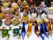 Assortment of decorative items Stock Images