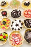 Assortment of delicious cupcakes Royalty Free Stock Photos