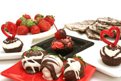 Assortment of desserts. Isolated photo of an assortment of desserts on white Royalty Free Stock Images