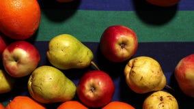 Assortment  different fruit vegetarian diet stop motion stock video footage