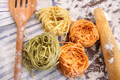 Assortment of different  Italian pasta Stock Image