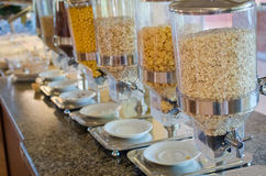 Assortment of different kind of cereals royalty free stock image