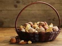 Assortment of different nuts Stock Photography