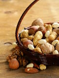 Assortment of different nuts Royalty Free Stock Photo