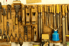 Assortment of do it yourself tools hanging Stock Image