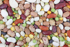 Assortment of dried beans Royalty Free Stock Photos