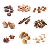 Assortment of dried fruit closeup collage Royalty Free Stock Photo