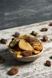 Assortment of dried fruit royalty free stock photo