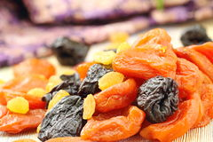 Assortment of dried fruit Royalty Free Stock Images