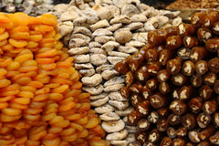 Assortment of dried fruits. And dessert Royalty Free Stock Image